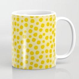 Irregular Small Polka Dots yellow Coffee Mug
