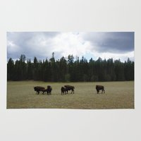 buffalo Area & Throw Rugs featuring Buffalo  by Taylor Palmer