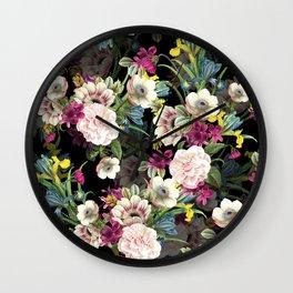 Midnight Botany Wall Clock