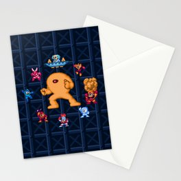 Man Mega One Pixels Stationery Cards
