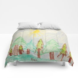 Evergreen Forest Comforters