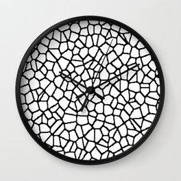 staklo (white with black) Wall Clock