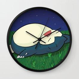 Snorlax Sleeping Wall Clock