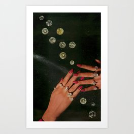 diamond's are Art Print