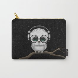 Cute Baby Owl Dj with Headphones and Glasses Carry-All Pouch