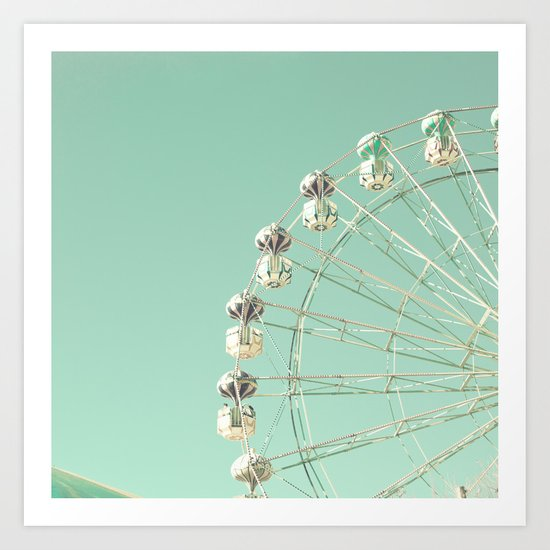 Carnival and Mint Sky Art Print