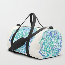 Watercolor Medallion in Ocean Colors Duffle Bag