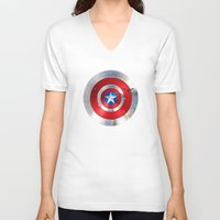 agents of shield V-neck T-shirts featuring SHIELD by Smart Friend