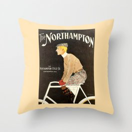 The Northampton Bicycle co. by Edward Penfield Throw Pillow