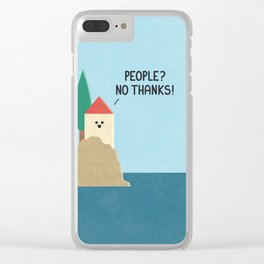 No Thanks Clear iPhone Case