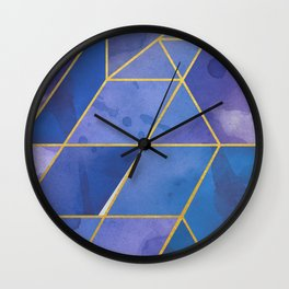 Shattered Sapphire 2 Wall Clock