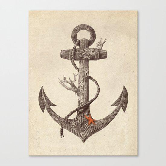Lost at Sea - mono Canvas Print