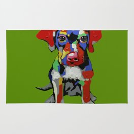 A COLORFUL LITTLE DOG Rug