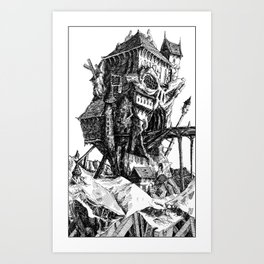 Doom Castle Art Print