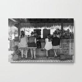 Girls at a beach bar cafe - Fine art photography Metal Print