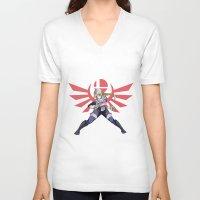 smash bros V-neck T-shirts featuring Smash Bros - Sheik by Emm Gee Art