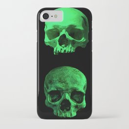 Skull quartet green iPhone Case