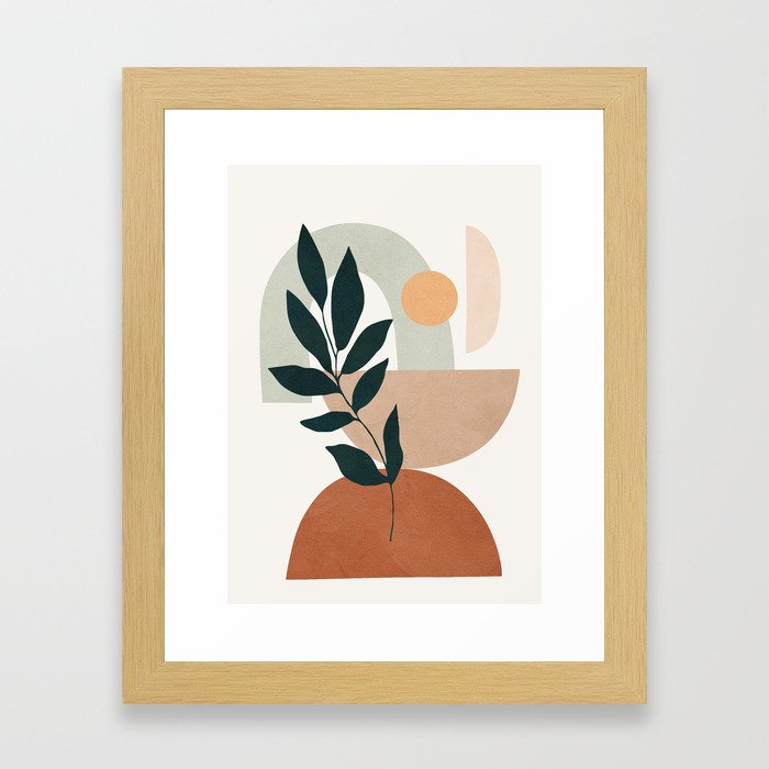 Soft Shapes Iv Framed Art Print by City Art - Conservation Natural - X-Small-10x12