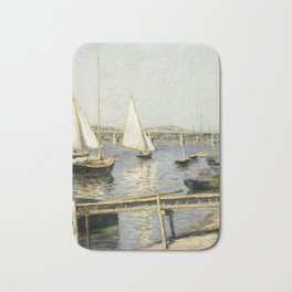 Gustave Caillebotte - Sailing Boats at Argenteuil Bath Mat
