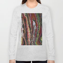 The Reef - Original, abstract, acrylic, fluid painting Long Sleeve T-shirt
