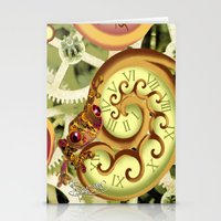 clockwork Stationery Cards featuring Clockwork. by Sylvie Heasman