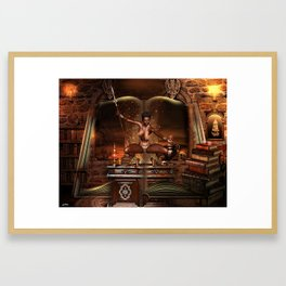 BOOK OF JUNGLE TALES Framed Art Print