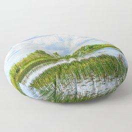 Everglades Reflections Floor Pillow