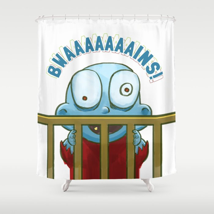 Nobody puts Baby Zombie in a corner! Shower Curtain