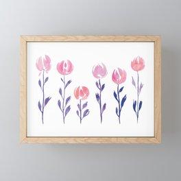 Floral Stems | Purple Blush Framed Mini Art Print