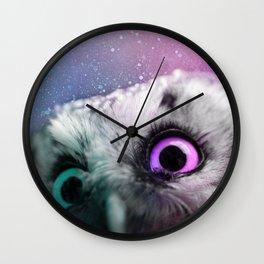 Galactic Owl Wall Clock