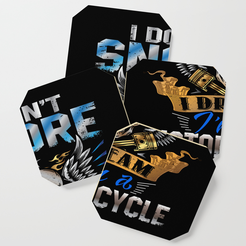 I Don't Snore I Dream I'm A Motorcycle Funny Quote Coasters by Phamquynhanh77432 S6C9201650