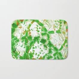 Green industrial abstract Bath Mat