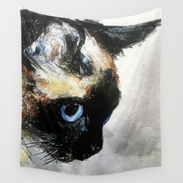 Siamese Cat Right Side Tapestry Wall Tapestry
