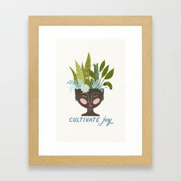 Cultivate Joy Framed Art Print