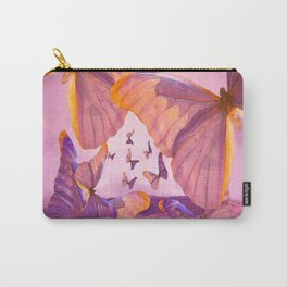 Butterflies In Flight - Pink And Purple Illustration #decor #society6 Carry-All Pouch