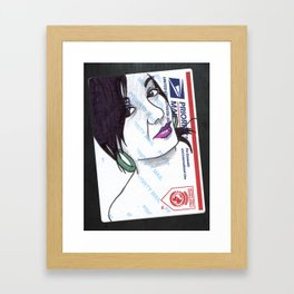 Stuck. Framed Art Print