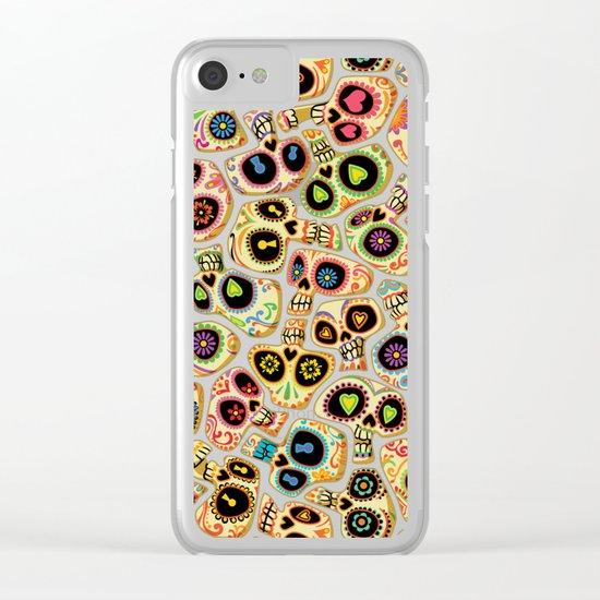 Calaveras del Día de los Muertos. Clear iPhone Case