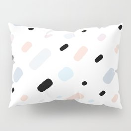 colorful confetti on white background Pillow Sham