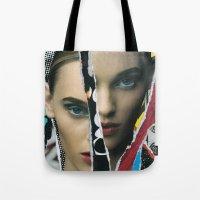 half life Tote Bags featuring Half Life by Joel Lambeth