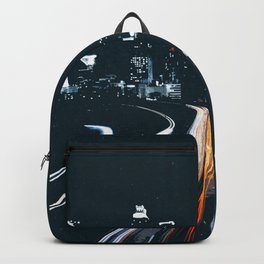 Atlanta Georgie Skyline at Night Backpack
