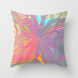 Re-Created Flower 6 by Robert S. Lee Throw Pillow