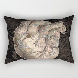 adventure heart-world map Rectangular Pillow