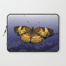 Pearl Crescent on Plaster Laptop Sleeve