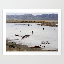 Junk at the Great Salt Lake Art Print