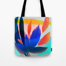 Shapes and Layers no.14 - leaves grid flames sun Tote Bag