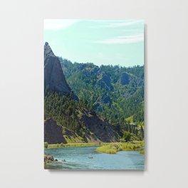 Canoe between the mountains Metal Print