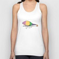 chameleon Tank Tops featuring Chameleon by Lutfi Zayed