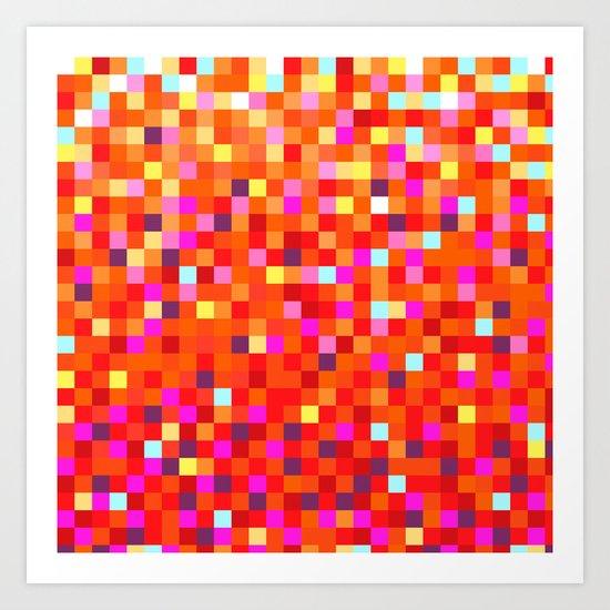 Inferno -- Pixel Art by KCS Art Print