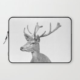 Black and white deer animal portrait Laptop Sleeve