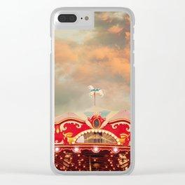 Wonderful Whirled Carousel Clear iPhone Case